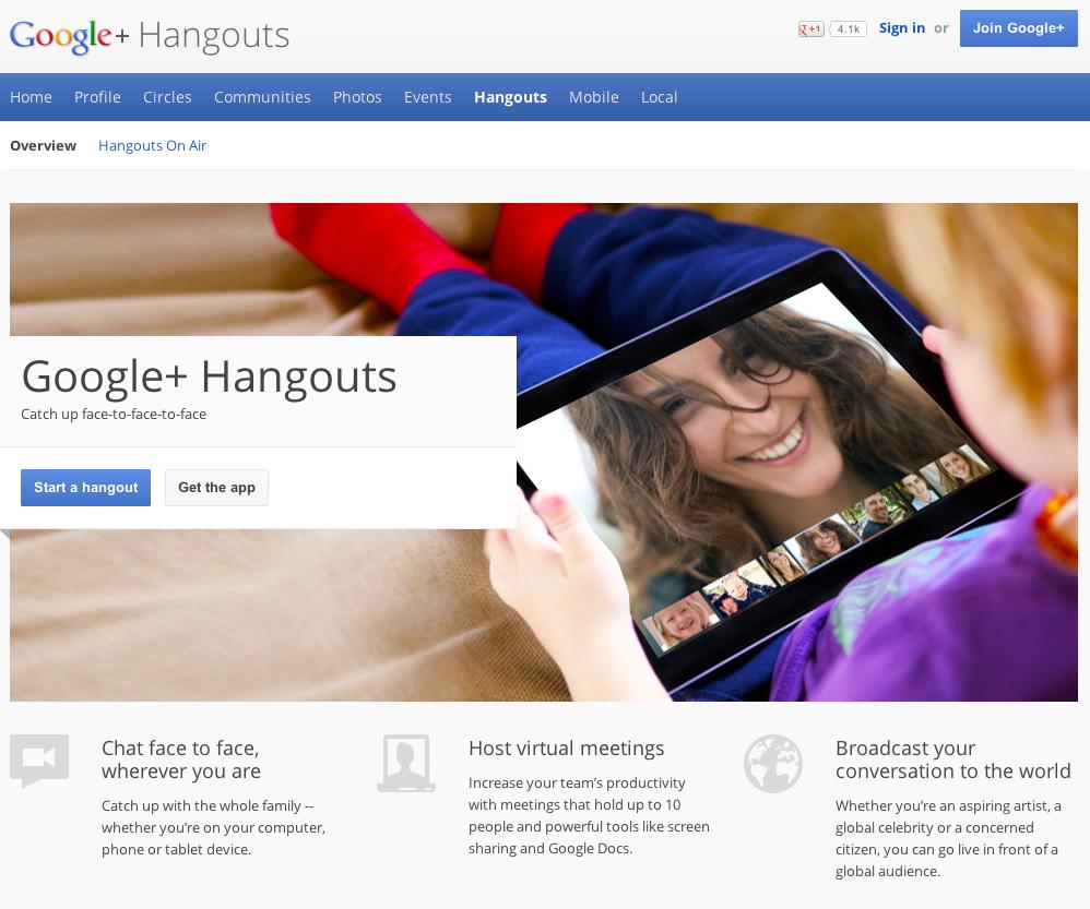 eewee-saas-google-hangouts-home