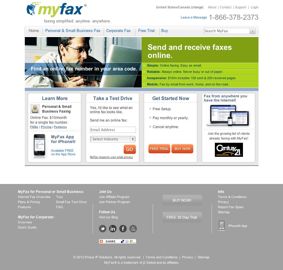 eewee-saas-myfax-home