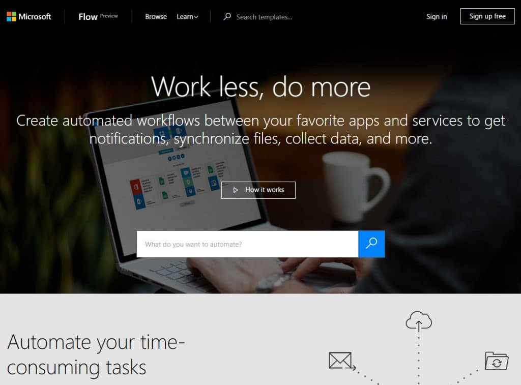 connect-apps-flow-microsoft-home