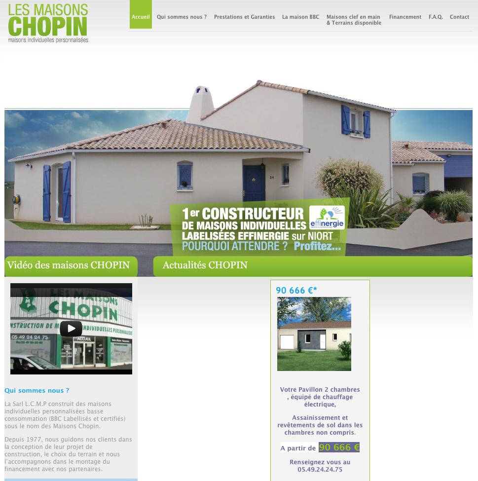 Creation site internet maison chopin construction for Site construction maison
