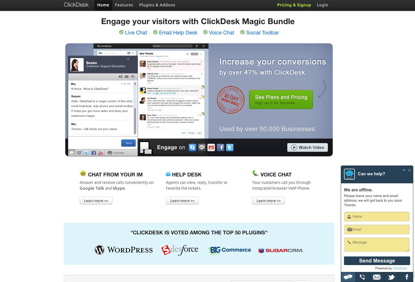Saas Clickdesk Developpeur Integrateur Web Growth