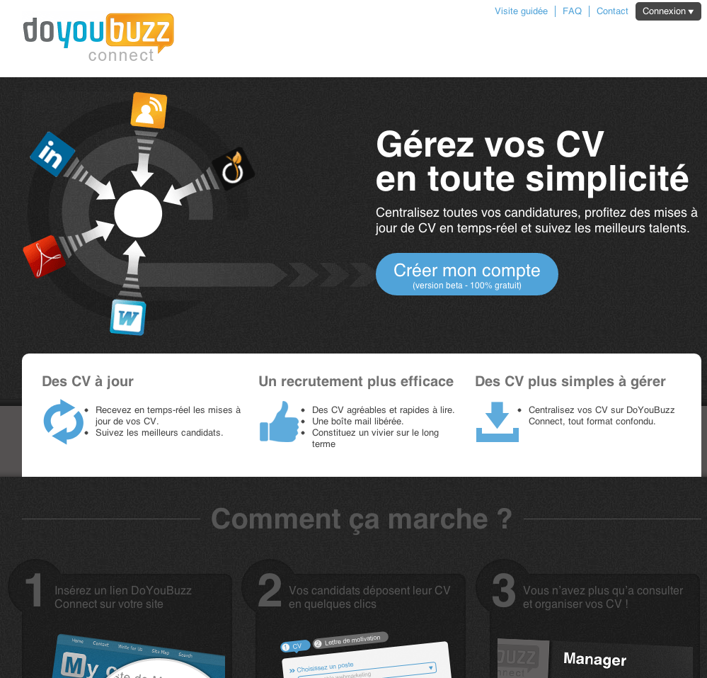 saas   doyoubuzz connect   integrateur web