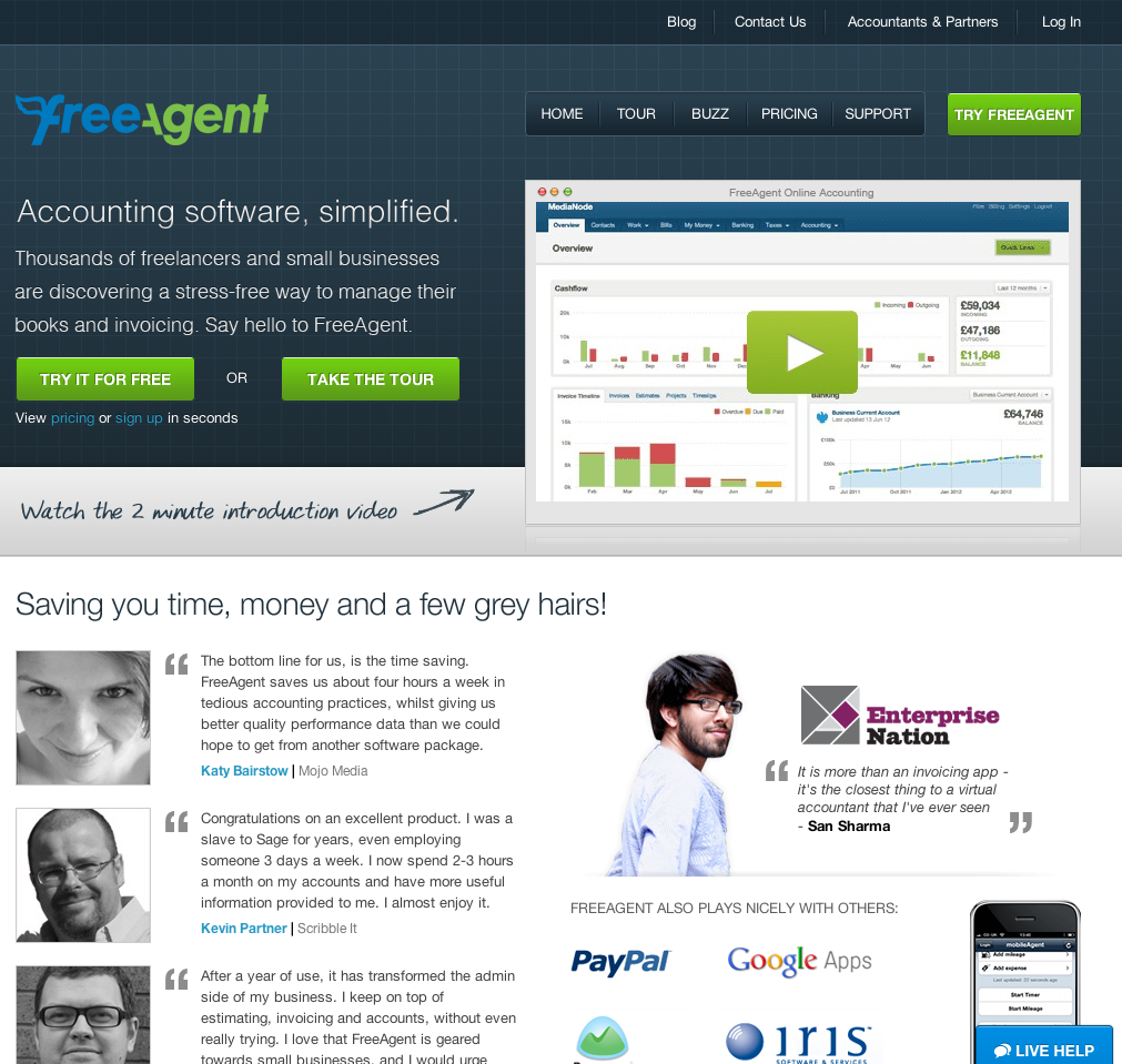 eewee-saas-freeagent-home