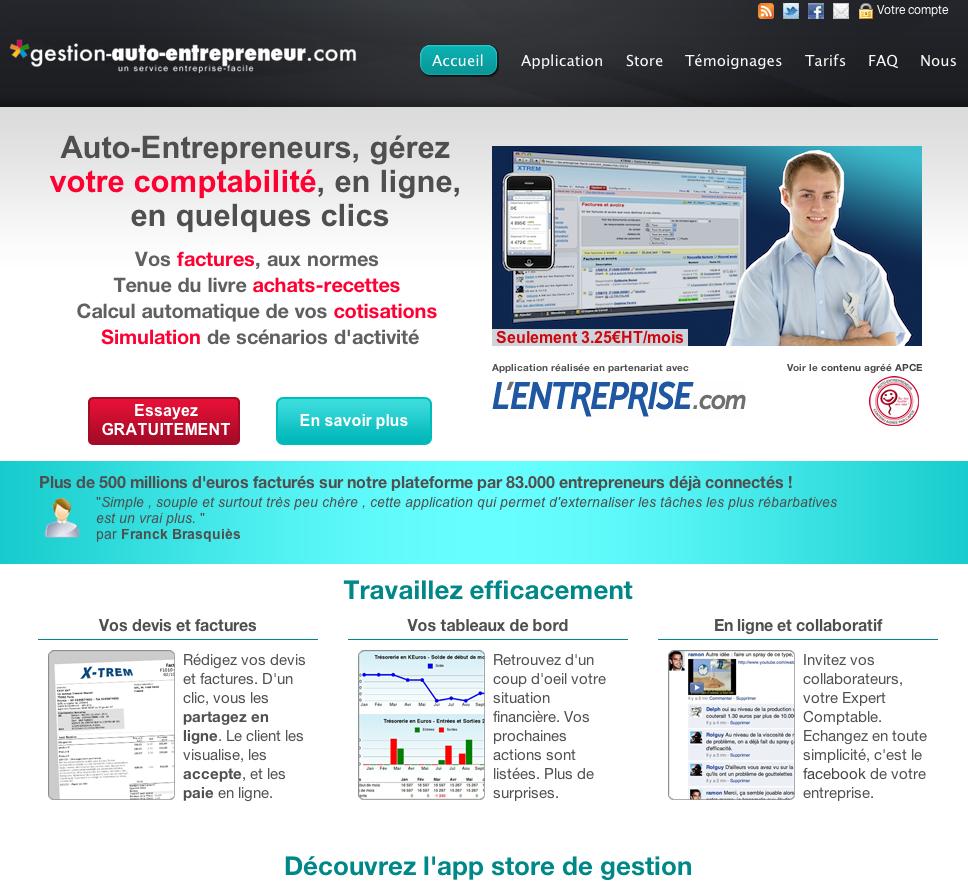 eewee-saas-gestion-auto-entrepreneur-home