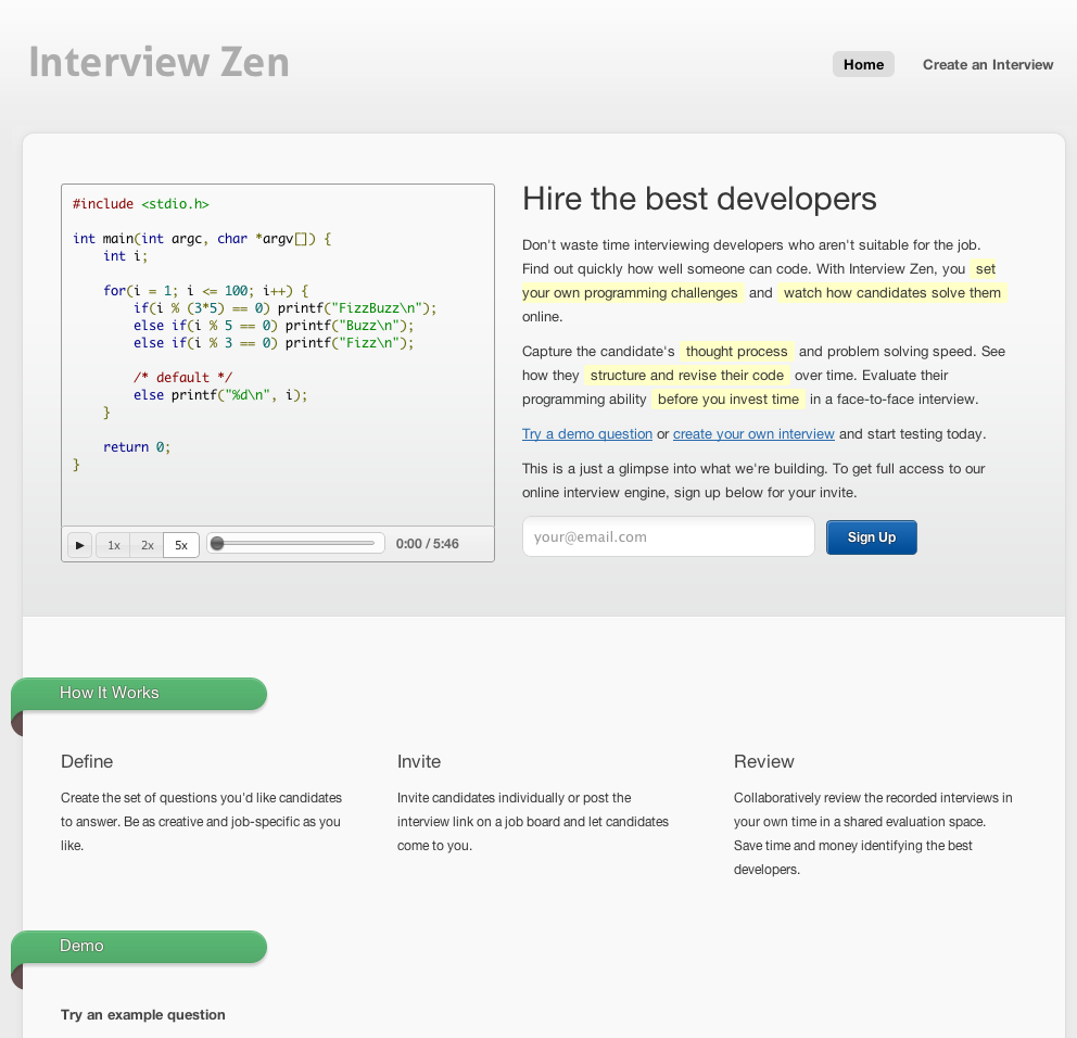 eewee-saas-interviewzen-home