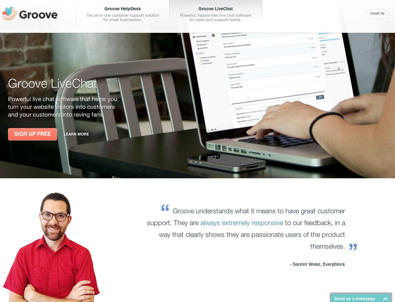 eewee-saas-groove-live-chat-home