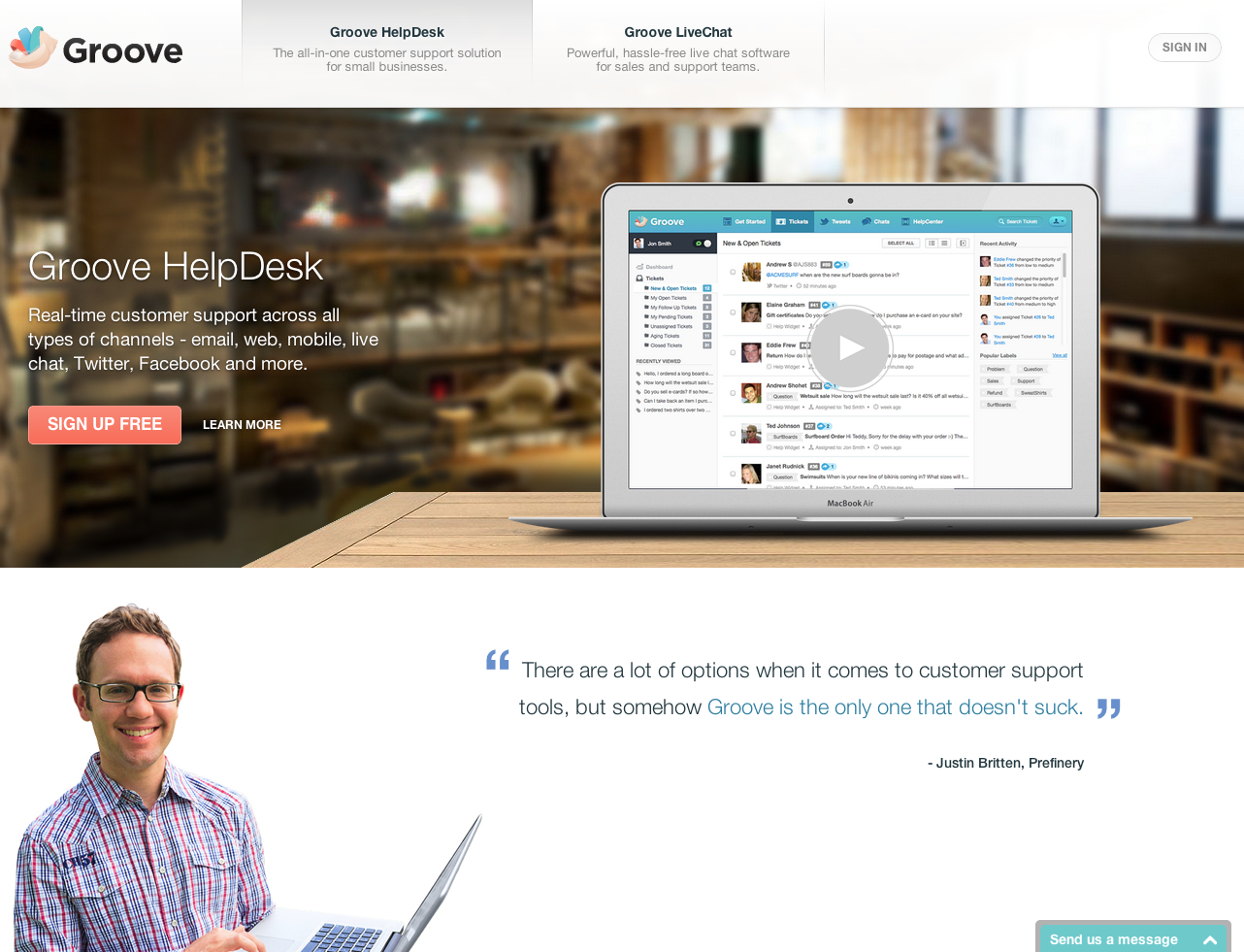 eewee-saas-helpdesk-home
