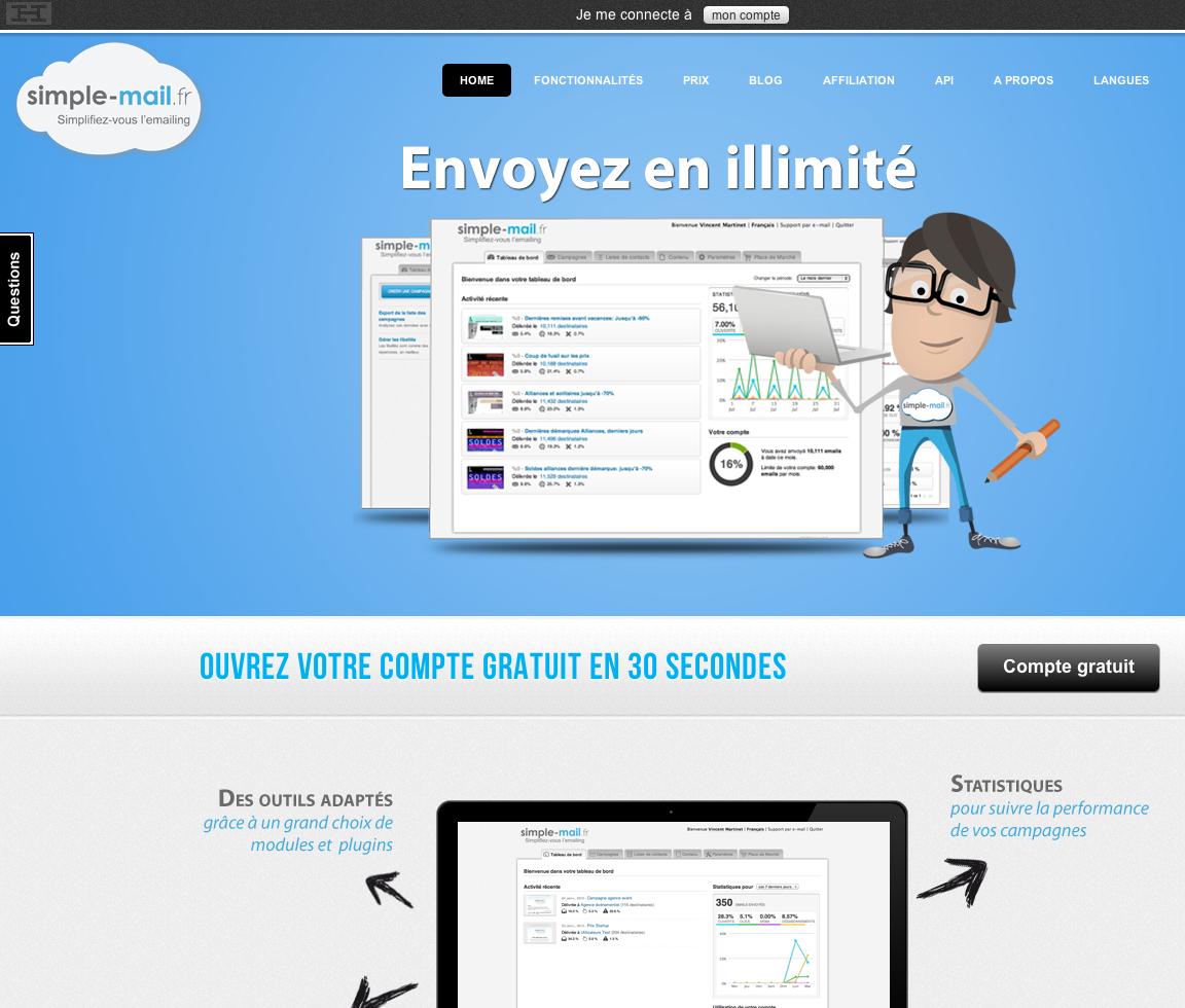 eewee-saas-simple-email-home