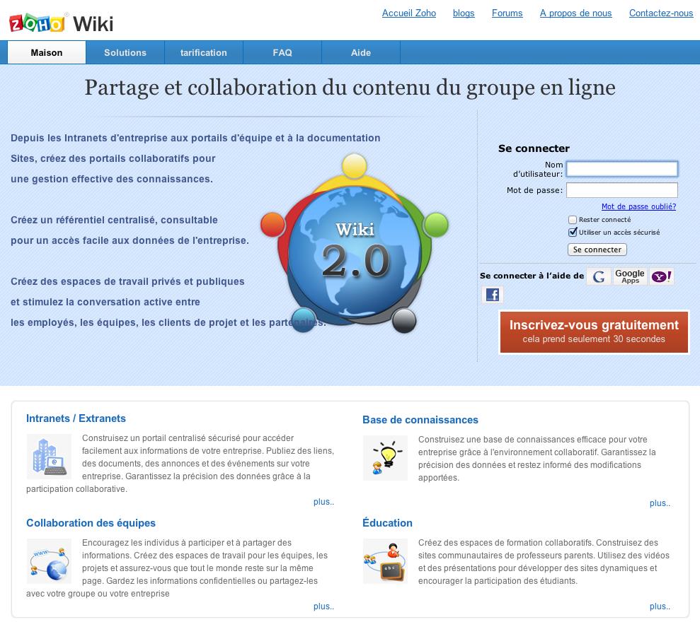 eewee-saas-zoho-wiki-home