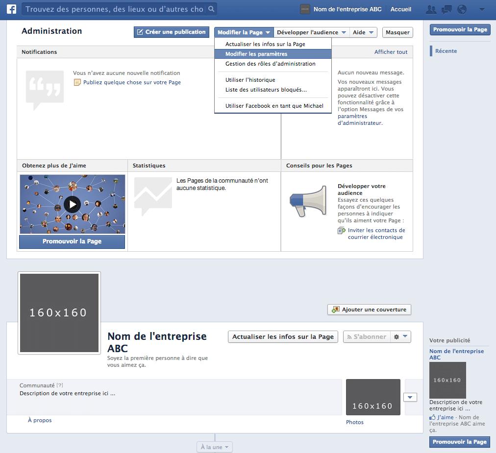modifier-la-page-facebook
