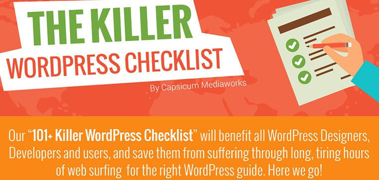 infographie wordpress checklist