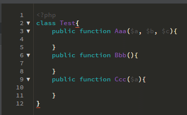 IDE brackets plugin liste fonctions class function