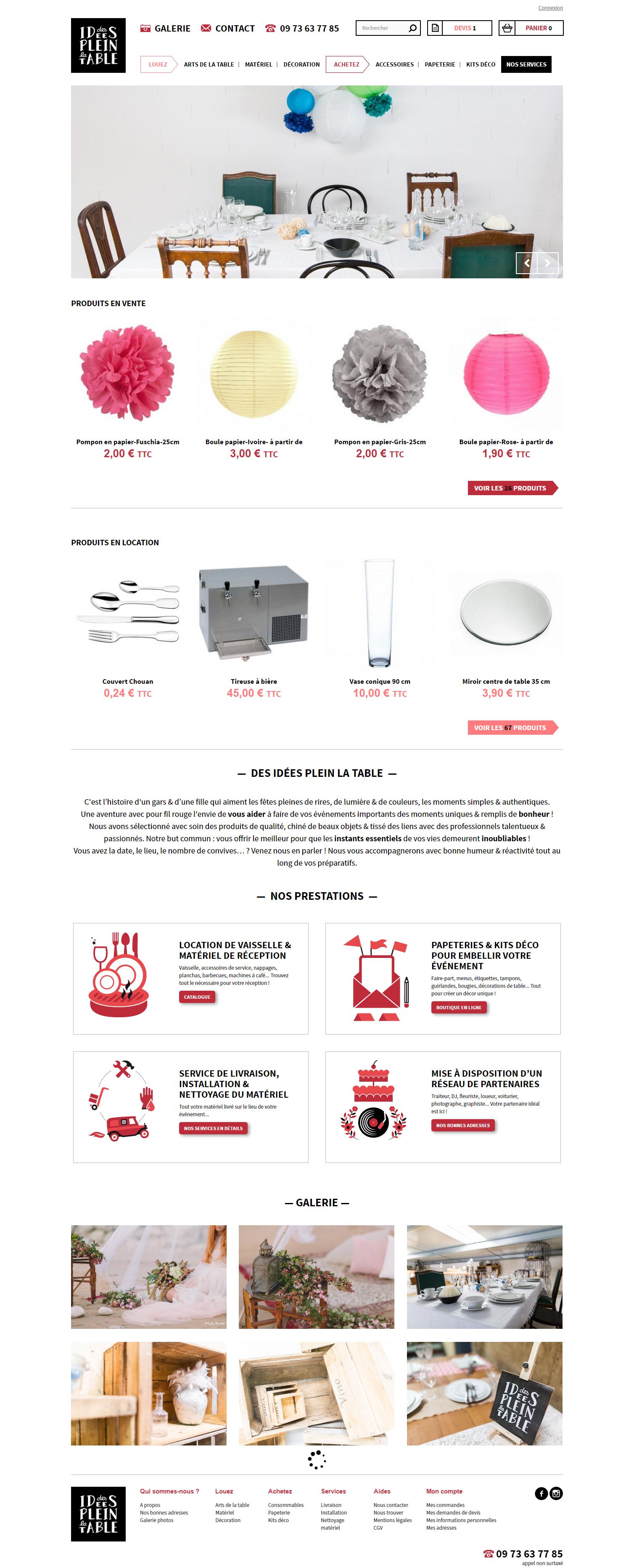 Des idees plein la table - site web - home