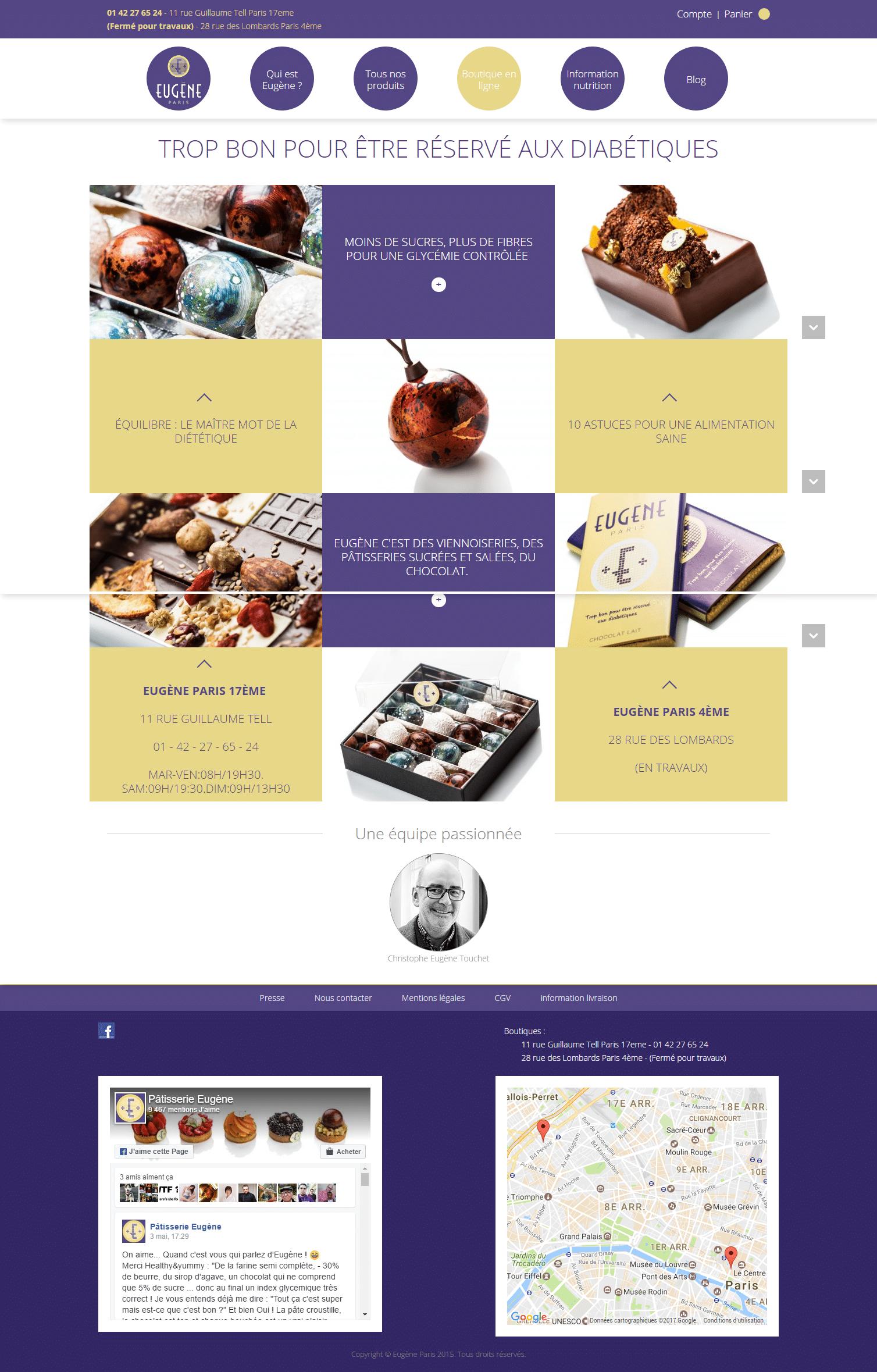 eugene paris - site web