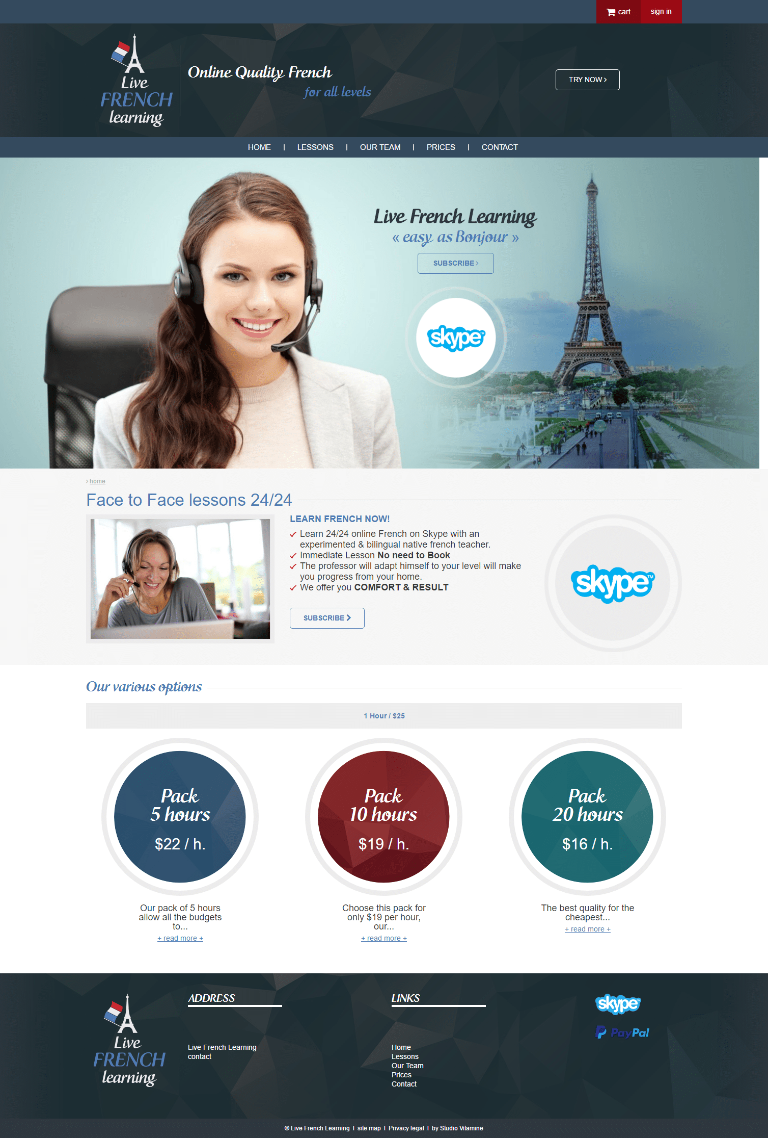 live french learning - site web - home